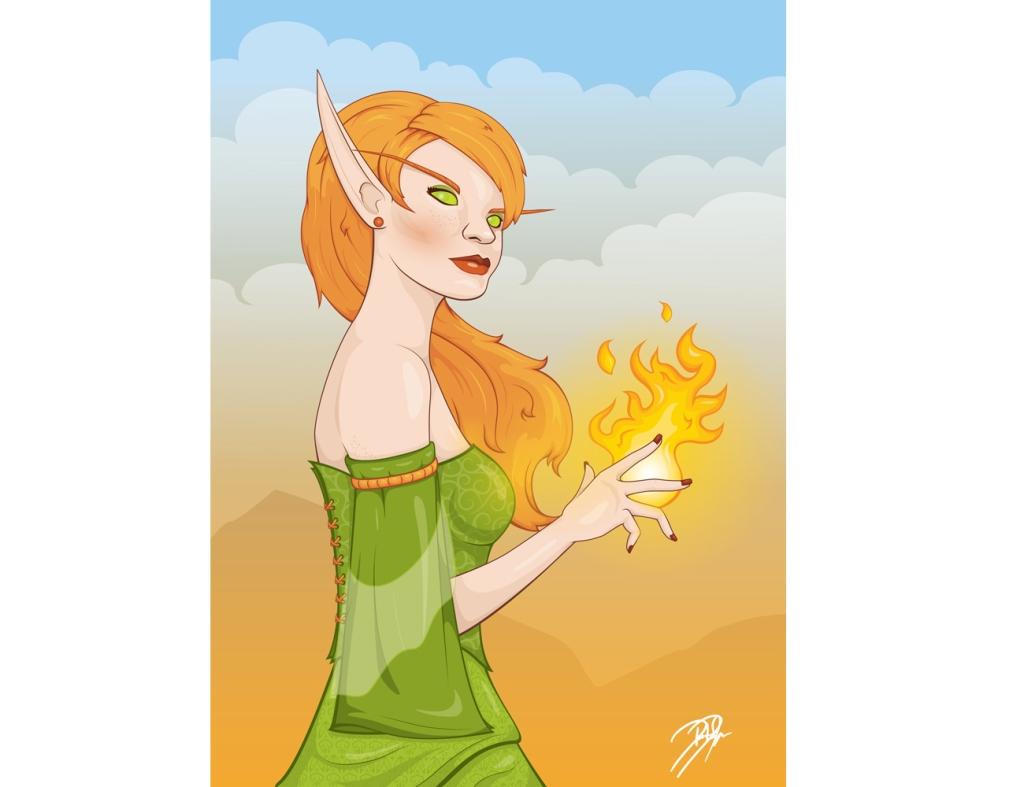 Blood Elf Illustration